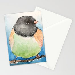 Dark-eyed junco watercolor Stationery Cards