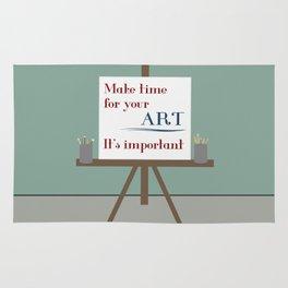 Make Time For Art Rug