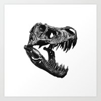 t rex Art Prints featuring T Rex by Sascha Selli