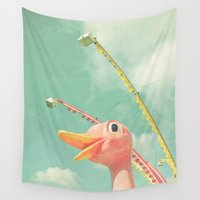 ostrich Wall Tapestries featuring Ostrich by Cassia Beck