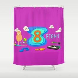Number eight - Kids Art Shower Curtain