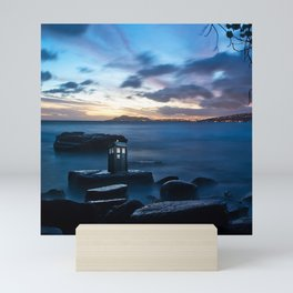 Tardis On The Sea Stone Mini Art Print