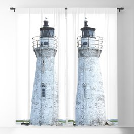 Lighthouse Illustration Blackout Curtain
