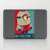 obama iPad Cases featuring Minion Obama by Skorretto