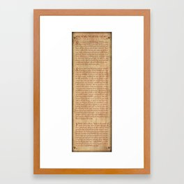 Shema - Antique Paper Background Framed Art Print
