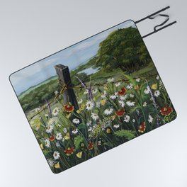 Wild Daisies Picnic Blanket