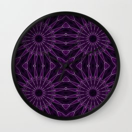 Eggplant Flowers Wall Clock