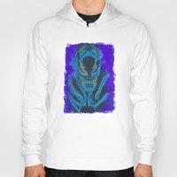 xenomorph Hoodies featuring Alien Xenomorph  by Dukesman