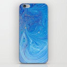Blue Watercolor iPhone Skin
