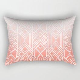 Art Deco Fading Peach Rectangular Pillow