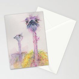 Ink Animals of Africa - Funky Ostriches Stationery Cards