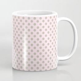 Taupe Polka Dots on Pink Coffee Mug