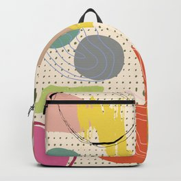 Abstract Graph Paper Collage Backpack