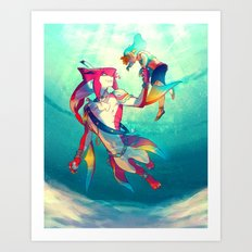 The Hero & the Prince Art Print