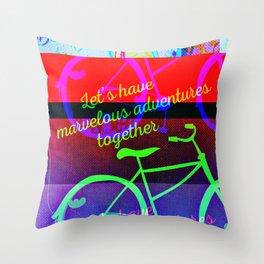 Marvelous Glitch Adventures Throw Pillow