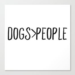 Dogs Over People Canvas Print
