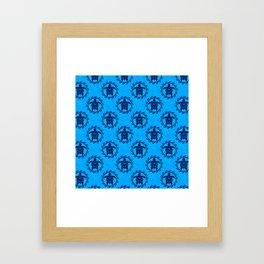 Tribal Turtle Sun Pattern Framed Art Print