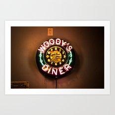 Woody's Diner Art Print