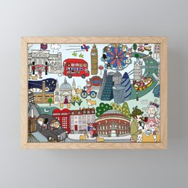 The Queen's London Day Out Framed Mini Art Print