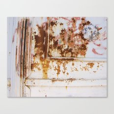Rust and white paint Canvas Print