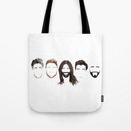 Queer Eye Fab 5 Faces Tote Bag