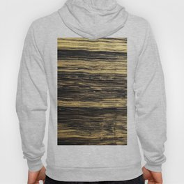 Elegant abstract black faux gold brushstrokes Hoody