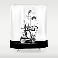 sail Shower Curtains featuring Sail by Roberto J. Viacava