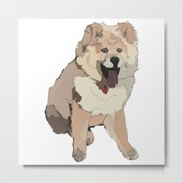 Fluffy Dog Metal Print
