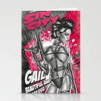 sin city Stationery Cards featuring Gail - Sin City by Renato Cunha