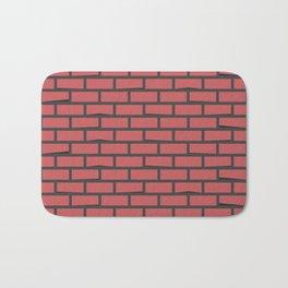 Red brick wall seamless background #society6 #decor #buyart #artprint Bath Mat