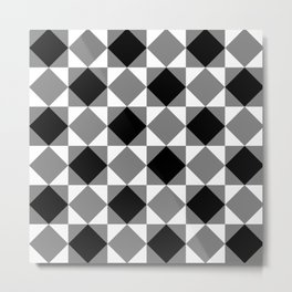 Chess Rombs Metal Print