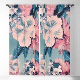 Vintage Nui Loa Hibiscus Blackout Curtain