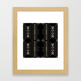 Southwestern Black Diamond Stripe Patterns Framed Art Print