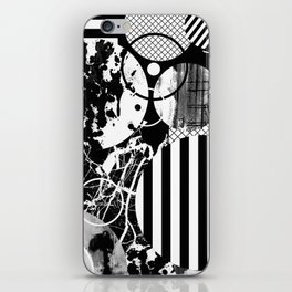 Black And White Choas - Mutli Patterned Multi Textured Abstract iPhone Skin