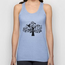 :) animals on tree Unisex Tank Top