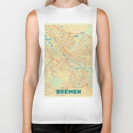 Bremen Map Retro Biker Tank