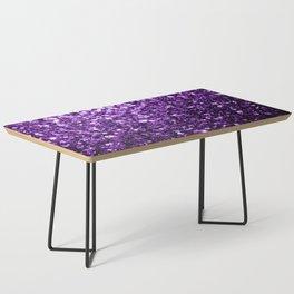 Beautiful Dark Purple glitter sparkles Coffee Table