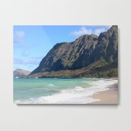 Hawaiian Beach Oasis Metal Print
