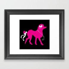 Pink Poodle  Framed Art Print