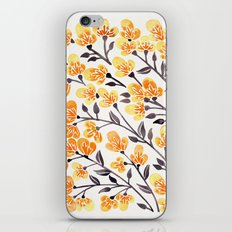 Cherry Blossoms – Yellow Palette iPhone Skin