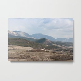 French Alps in the winter Metal Print