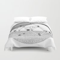 ohm Duvet Covers featuring Ohm. by Samuel Guerrero