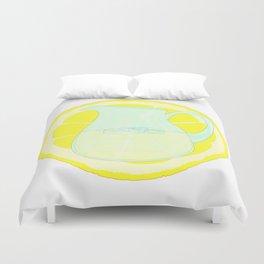 Lemonade With Slice Duvet Cover