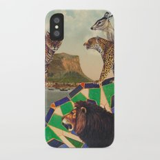 Searching all mountains high and seas blue Slim Case iPhone X