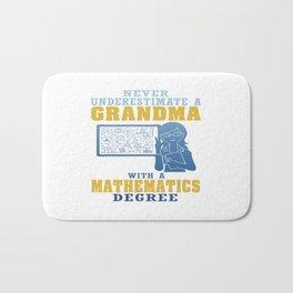 Mathematics Grandma Bath Mat
