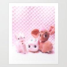kitsch cuties Art Print