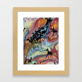 Go with the Herd Framed Art Print