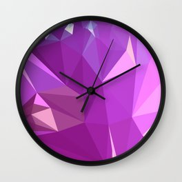Light Medium Orchid Purple Abstract Low Polygon Background Wall Clock