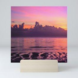Spectacular South Pacific Sunset Near Huahini Island, Tahiti Mini Art Print
