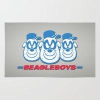 beagle Area & Throw Rugs featuring Beagle Boys by thom2maro